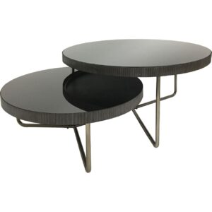 knightsbridge set of 2 round coffee tables
